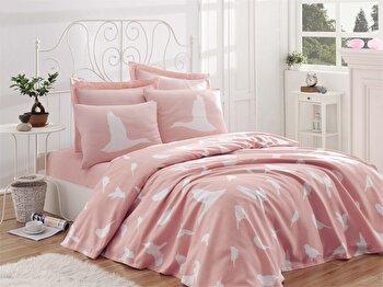 Cuvertura de pat – dubla EnLora Home, 162ELR6209, bumbac 100 procente, 220 x 240 cm de la EnLora Home