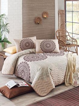 Set cuvertura de pat – single Eponj Home, 143EPJ9714, bumbac 65 procente, poliester 35 procente, 180 x 240 cm de la Eponj Home