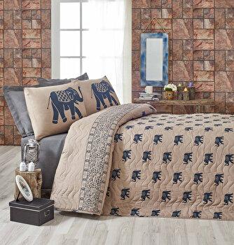Set cuvertura de pat – single Eponj Home, 143EPJ9536, bumbac 65 procente, poliester 35 procente, 180 x 240 cm de la Eponj Home