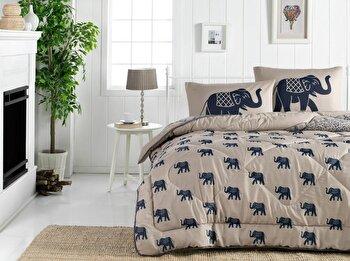 Cuvertura de pat – dubla Eponj Home, 143EPJ8204, bumbac 65 procente, poliester 35 procente, 195 x 215 cm de la Eponj Home
