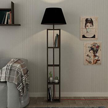 Lampa pentru podea Homitis, 776HMS1408, pal melaminat, 45 x 45 x 163.5 cm de la Homitis