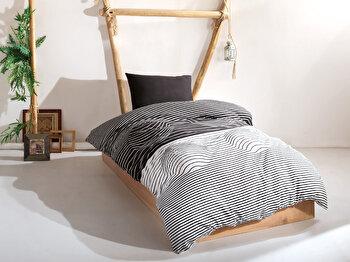 Lenjerie de pat – single EnLora Home, 162ELR1175, bumbac 65 procente, poliester 35 procente, 160 x 240 cm de la EnLora Home
