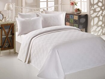 Cuvertura de pat – dubla EnLora Home, 162ELR6222, bumbac 100 procente, 220 x 240 cm de la EnLora Home