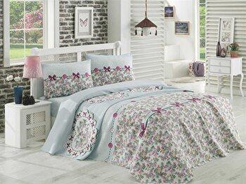 Cuvertura de pat – single EnLora Home, 162ELR5116, bumbac 100 procente, 160 x 235 cm de la EnLora Home