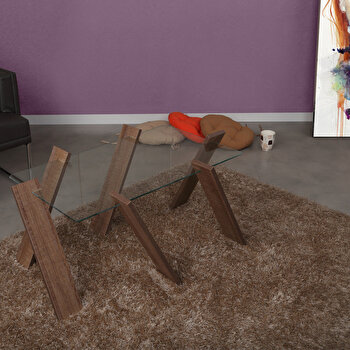 Masa pentru cafea Comforty, 801CMY2813, pal melaminat, 41 x 92 x 57 cm