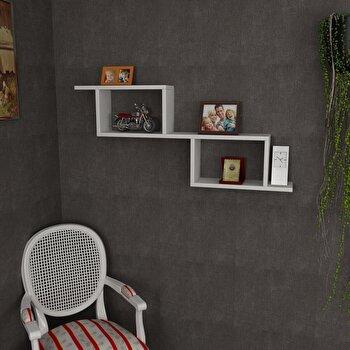 Raft de perete Wooden Art, 731WAT1669, pal melaminat, 101.4 x 45 x 14.5 cm de la Wooden Art