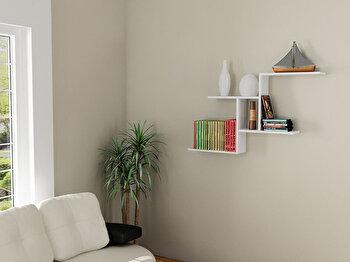 Raft de perete Elegance, 746JUG1611, pal melaminat, 13 x 111 x 72 cm de la Elegance