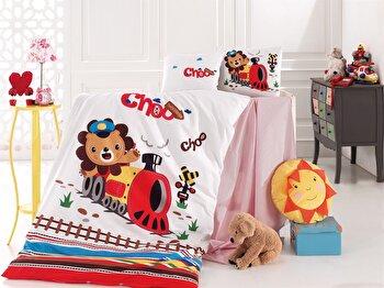 Set de pat pentru copii Nazenin Home, 164NZN2024, bumbac ranforce 100 procente, 120 x 160 cm