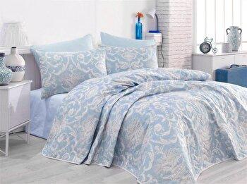 Set cuvertura de pat – dubla EnLora Home, 162ELR9239, bumbac 65 procente, poliester 35 procente, 180 x 240 cm de la EnLora Home