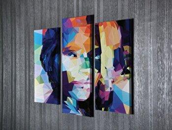 Tablou decorativ Majestic, 257MJS1469, canvas 100 procente, 3 piese, 40 x 20 cm de la Majestic