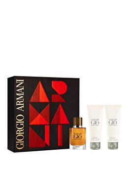 Set cadou Giorgio Armani Acqua di Gio Absolu (Apa de parfum 40 ml + Gel de dus 75 ml + After shave balsam 75 ml), pentru barbati de la Giorgio Armani