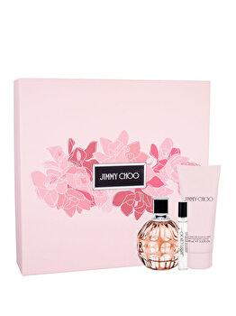 Set cadou Jimmy Choo (Apa de parfum 100 ml + Lotiune de corp 100 ml + Apa de parfum 7.5 ml), pentru femei de la Jimmy Choo