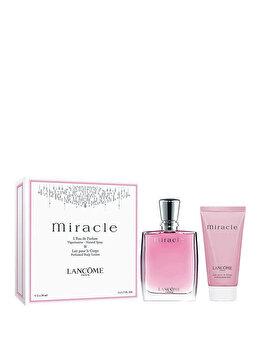 Set cadou Lancome Miracle (Apa de parfum 50 ml + Lotiune de corp 50 ml), pentru femei