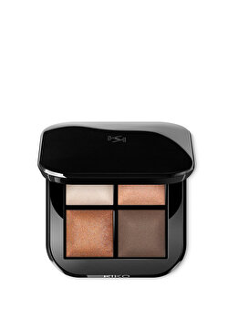 Fard de pleoape Bright Quartet Baked Eyeshadow Palette, 01 Warm Natural Tones, 3.2 g