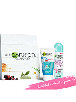 Set cadou Gel de curatare Garnier Pure Active 3 in 1 150 ml + Deodorant spray Garnier Action Control Thermic pentru femei 150 ml de la Garnier