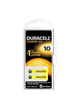 Baterie Duracell pentru aparat auditiv DA10, 81418196N, EasyTab, 6 bucati de la Duracell