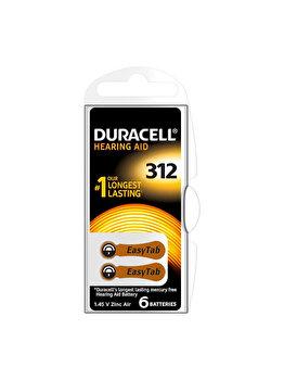 Baterie Duracell pentru aparat auditiv DA312, 81418218N, EasyTab, 6 bucati de la Duracell