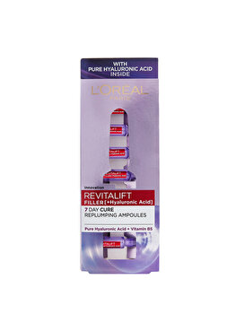 L Oreal Paris Revitalift Filler Fiole anti age cu Acid Hialuronic, 7×1.3 ml de la L Oreal Paris