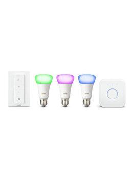 Pachet 3 becuri inteligente, Philips, Hue, LED, 871869672879600, E27, 10 W, A19