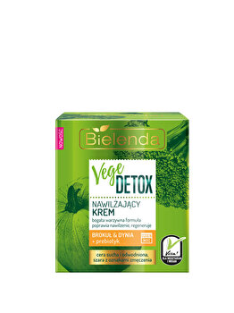 Crema hidratanta fata pentru piele uscata cu Broccoli + dovleac + prebiotic Vege Detox, 50 ml de la Bielenda