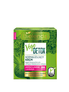 Crema de fata normalizanta pentru piele mixta cu Sfecla si Nap + prebiotic Vege Detox, 50 ml de la Bielenda
