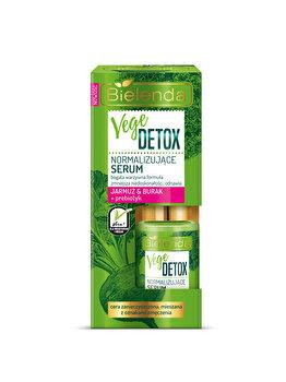 Ser de fata normalizant pentru piele mixta cu Sfecla si Nap + prebiotic Vege Detox, 15 ml de la Bielenda