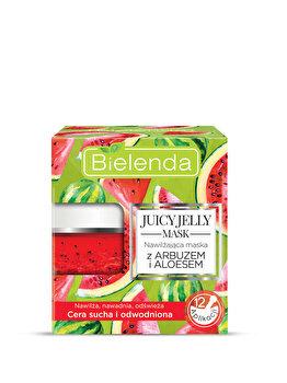 Masca hidratanta cu pepene verde si aloe pentru piele uscata si deshidratata Juicy Jelly Mask, 50 g de la Bielenda