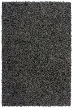 Covor Decorino Shaggy C05-251001, Negru, 60×110 cm de la Decorino