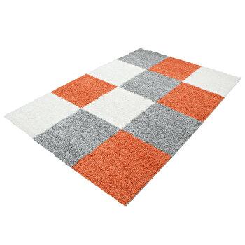 Covor Decorino Modern & Geometric C15-201237, Alb/Portocaliu, 200×290 cm de la Decorino