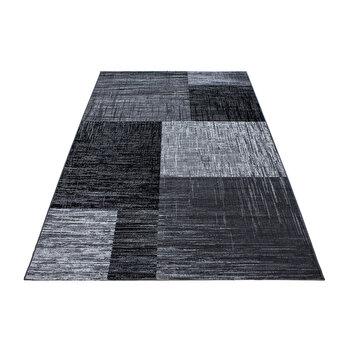 Covor Decorino Modern & Geometric C02-203801, Gri/Negru, 160×230 cm de la Decorino
