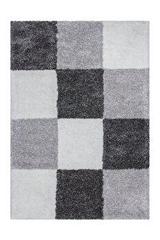 Covor Decorino Modern & Geometric C03-014107, Gri, 120×170 cm de la Decorino