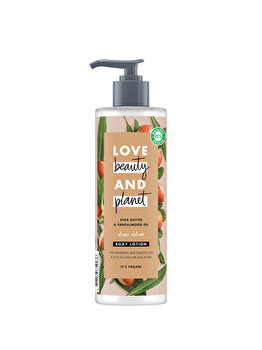 Lotiune pentru corp Love Beauty and Planet Shea Velvet Shea Butter & Sandelwood Oil, 400 ml de la Love, Beauty and Planet