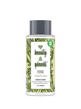 Balsam pentru par normal cu tendinta de ingrasare Love Beauty and Planet Delightful Detox Rosemary & Vetiver, 400ml de la Love, Beauty and Planet