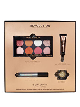 Set pentru machiajul Revolution Glitter Kit de la Makeup Revolution London