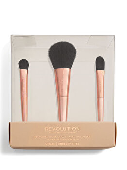 Set pensule Revolution Reloaded Rose Gold Travel Brush Set de la Makeup Revolution London