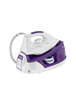 Statie de calcat, Tefal, Purely and Simply blue, 2200W, 1.2 L, 90 g/min, SV5005E0, Alb/Mov de la Tefal