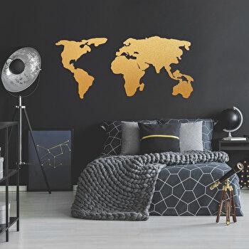 Decoratiune pentru perete, Ocean, metal 100 procente, 121 x 56 cm, 874OCN1013, Auriu de la Ocean