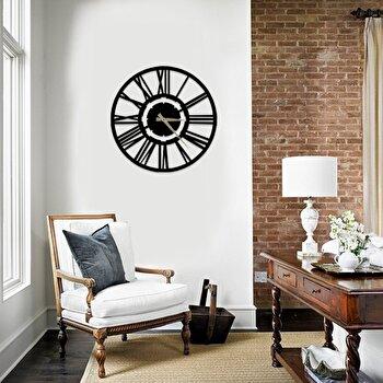 Ceas decorativ pentru perete, Pirudem, metal 100 procente, 50 x 50 cm, 826PIR2063, Negru de la Pirudem
