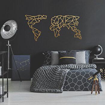 Decoratiune pentru perete, Ocean, metal 100 procente, 120 x 58 cm, 874OCN1058, Auriu de la Ocean