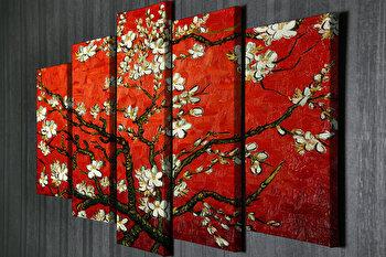 Tablou decorativ, Vega, Canvas 100 procente, lemn 100 procente, 2 piese, 105 x 70 cm, 265VGA1165, Multicolor de la Vega