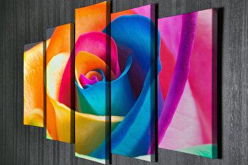 Tablou decorativ, Vega, Canvas 100 procente, lemn 100 procente, 2 piese, 105 x 70 cm, 265VGA1166, Multicolor