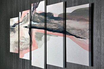 Tablou decorativ, Vega, Canvas 100 procente, lemn 100 procente, 2 piese, 105 x 70 cm, 265VGA1171, Multicolor de la Vega