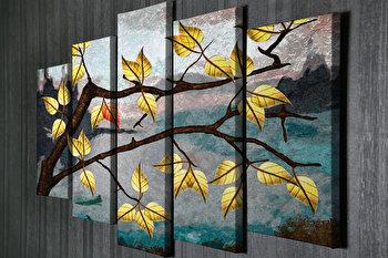 Tablou decorativ, Vega, Canvas 100 procente, lemn 100 procente, 2 piese, 105 x 70 cm, 265VGA1172, Multicolor de la Vega