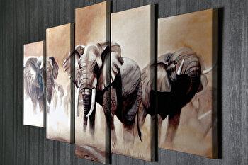 Tablou decorativ, Vega, Canvas 100 procente, lemn 100 procente, 2 piese, 105 x 70 cm, 265VGA1173, Multicolor de la Vega