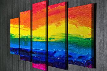 Tablou decorativ, Vega, Canvas 100 procente, lemn 100 procente, 2 piese, 105 x 70 cm, 265VGA1174, Multicolor de la Vega