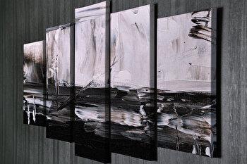 Tablou decorativ, Vega, Canvas 100 procente, lemn 100 procente, 2 piese, 105 x 70 cm, 265VGA1175, Multicolor