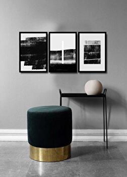 Tablou decorativ, Alpyros, MDF 100 procente, PVC100 procente, 3 piese, 112 x 51 cm, 841APY3103, Multicolor de la Alpyros