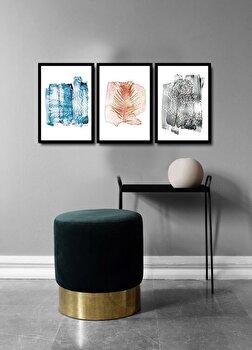 Tablou decorativ, Alpyros, MDF 100 procente, PVC100 procente, 3 piese, 112 x 51 cm, 841APY3104, Multicolor de la Alpyros