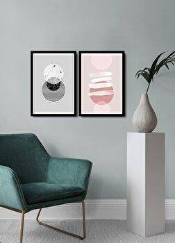 Tablou decorativ, Alpyros, MDF 100 procente, PVC100 procente, 2 piese, 74 x 51 cm, 841APY2103, Multicolor