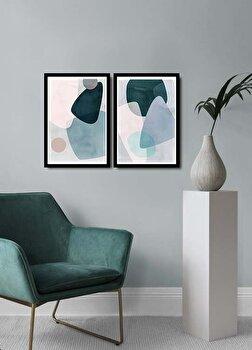 Tablou decorativ, Alpyros, MDF 100 procente, PVC100 procente, 2 piese, 74 x 51 cm, 841APY2104, Multicolor de la Alpyros